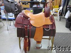 Jeff Smith Cutting Saddle New Never Used 16 Real Wool Walls