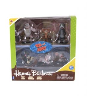 Hanna Barbera Tom Jerry 2 Collector Action Figure 6 Pack New