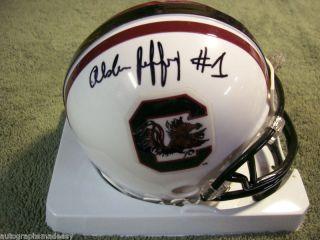 Alshon Jeffery South Carolina Signed Mini Helmet w COA