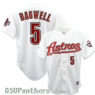 Jeff Bagwell Houston Astros Alternative White Jersey w Patch Sz Med