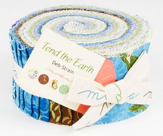 Deb Strain Tend The Earth Jelly Roll 2 5 Fabric Quilting Strips Moda