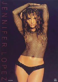 Jennifer Lopez Sexy Color Mesh Poster