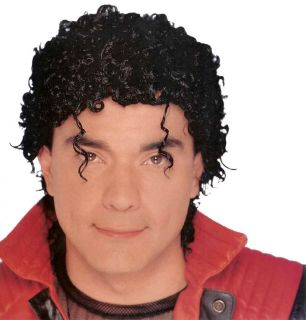 Jerry Jheri Curl Afro Michael Jackson Thriller Wet Look Wig Costume
