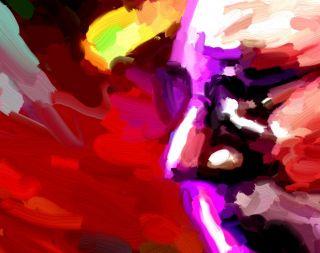 Jerry Garcia Grateful Dead Painting 17x11 Canvas Concert Art Poster