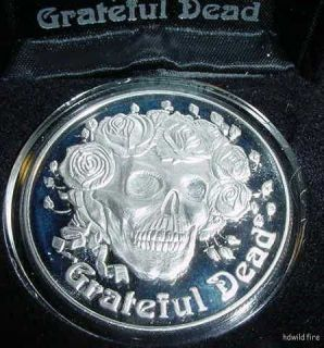 Grateful Dead Silver Ounce oz US Coin Jerry Garcia Art