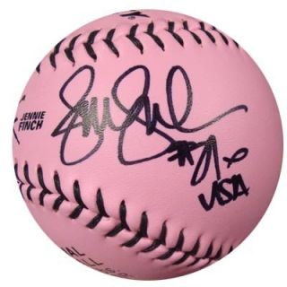 Jennie Finch Autographed Signed Pink Dudley Softball 27 USA PSA DNA