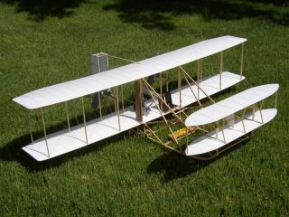 DARE DESIGN 1909 WRIGHT MILITARY FLYER RC FLYING MODEL AIRPLANE KIT 52