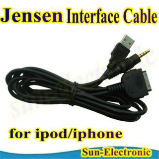 Jensen iPod iPhone Aux Adapter Cable Jlink USB VM9224BT VM9224F VM9314