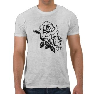 Tattoo Art Style Rose vintage white mens tshirt