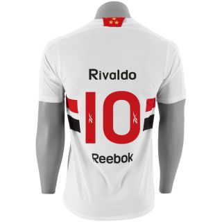 2011 Sao Paulo Rivaldo Home Jersey Reebok Soccer Jersey