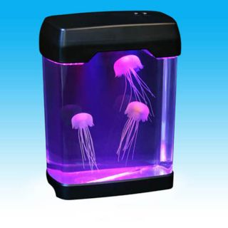 Jellyfish Mood Lamp w LED Lights Desktop Office Aquarium