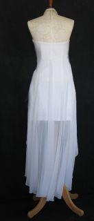 McClintock 54383 White Taffeta Chiffon Dress Size 6