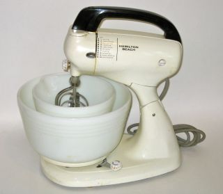 Hamilton Beach Hand and Stand Mixer Model 020 Very Good Condition