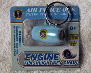 Air Force One Collectible Jet Engine Flashlight Keychain EK1002 Ships
