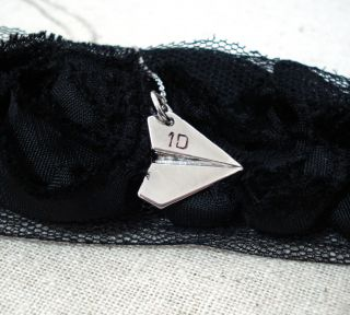 One Direction Inspired Harry Styles Silver Paper Airplane Charm