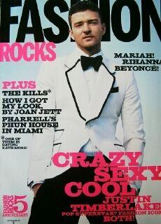 Fashion Rock Justin Timberlake Jessica Stam Shani Harrison Mariah