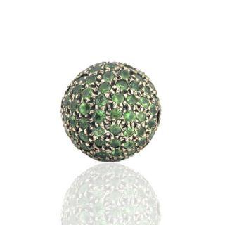Silver Tsavorite Gem Stone Handmade Beads Fashion Jewelry Accessories