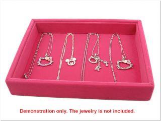 Fuschia Multi Purpose Jewelry Display Case Box Tray
