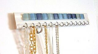 Necklace Jewelry Hanger Holder Display with Ocean Blue Mosiac Stones