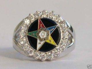 Eastern Star Masonic Mason Lady Ring Jewelry Size 10