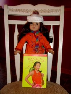 American Girl Doll 2006 Retired Jess Doll Outfit and Book Op Co B