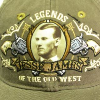 Legend West Outlaw Wild Jesse James Ball Cap Hat Brown