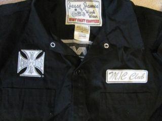 Jesse James WorkWear Button Up Shirt New