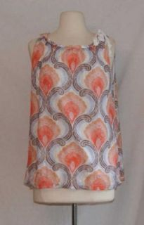 Anthropologie Ric Rac Net Floral Tank Top Large L White