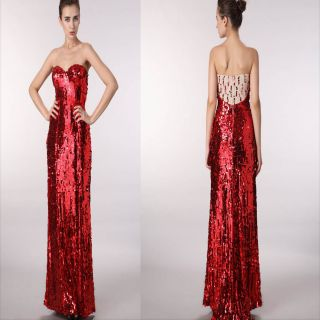 Jessica Rabbit Long Formal Gown Evening Prom Halloween Party Dress 4 6