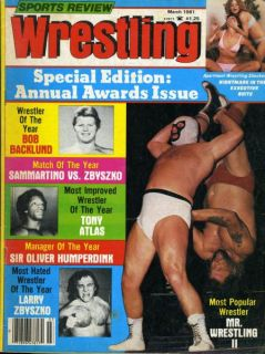 Mr Wrestling II Sports Review Wrestling Magazine March 1981 Apartment