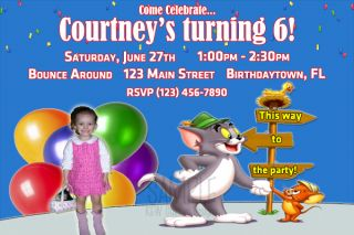 Custom Tom Jerry Birthday Invitations Personalized