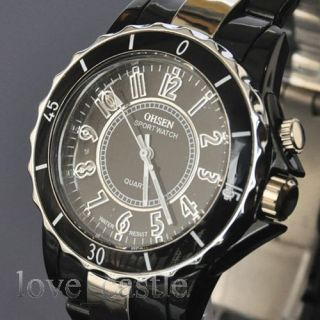 Womens Mens Quartz Black White Love Gift Wrist Watches W52T