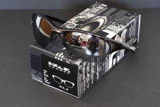 New Oakley Half Jacket XLJ Sunglasses Jet Black w Black Iridium Lens