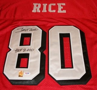 Jerry Rice Signed San Francisco 49ers HOF 2010 Jersey Auto PSA DNA