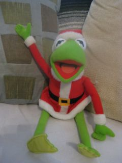 Muppets Jim Henson Kermit The Frog Dressed as Santa Plush Doll by