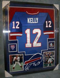 Jim Kelly Framed Buffalo Bills Jersey Autograph with  HOF 02  JSA