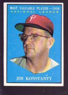 Phillies Jim Konstanty 1961 Topps Card 479 1950 MVP