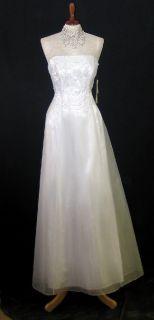 Jessica McClintock Blue Organza Beaded Dress SX 14