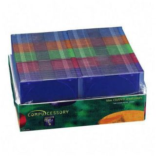 Compucessory 55403 Assorted Thin CD DVD Jewel Case