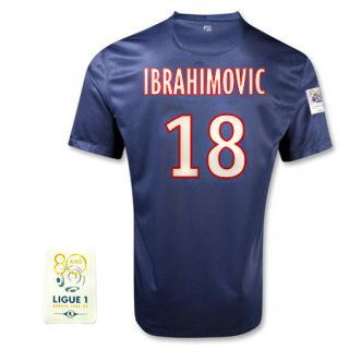 12 13 PSG HOME SOCCER JERSEY FOOTBALL SHIRT Ibrahimovic 18 LUIGE1 More
