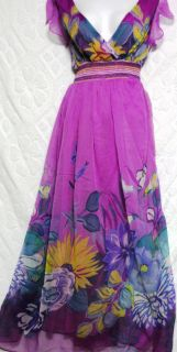 Jessica taylor floral print long cocktail party dress maxi size 3xL