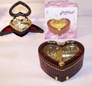 HEART SHAPED JEWELRY BOXES ring storage musical box GIRLS necklace