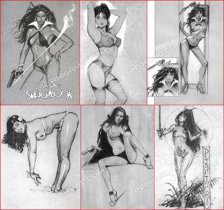 Jim Silke Vampirella Bettie Page Rascals Paradise Signed Pin Up 2003