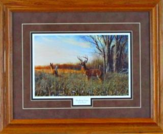 Jim Hansel Breaking Cover Deer Framed Print 21 x 17