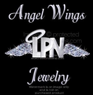 LPN PIN ANGEL WINGS   NURSE MEDICAL HEALTH CARE JEWELRY SPECIAL JJ
