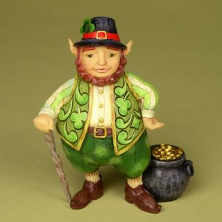 Jim Shore Heartwood Creek Irish Leprechaun Luck Figurine 4025795 2011