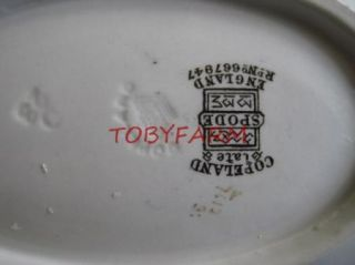 Gorgeous Copeland Spode Aesthetic Movement Small Oval Dish Butterflies