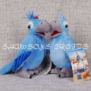 Rio Plush Stuffed Toy Birds 8 5 Blu Jewel Macaw Set
