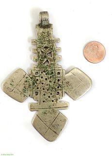 Ethiopian Coptic Cross Silver Metal Pendant African