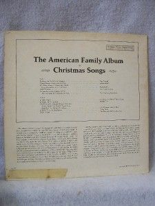 American Family Album of Christmas Songs by Various LP Album Columbia